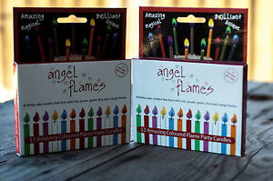 ANGEL FLAMES Amazing Colored Flame Party/Birthday Candles