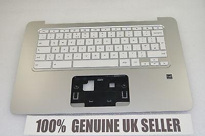 TESTED HP Chromebook 14-X050NA Laptop Palmrest Upper Cover Keyboard UK 787732-03