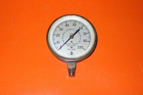 VINTAGE RELIABLE 1952 DRY SPRINKLER SYSTEM AIR GAUGE