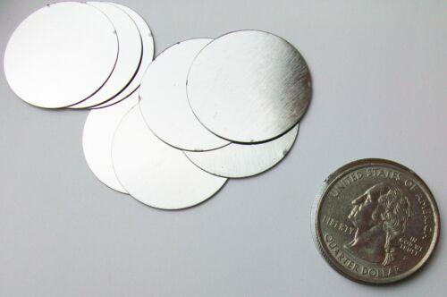 """Steel Metal Discs 1"""" dia 25mm"""