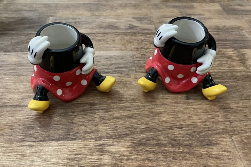 Disney Minnie Mouse  Candle Holders  Set Of 2 *Rare*