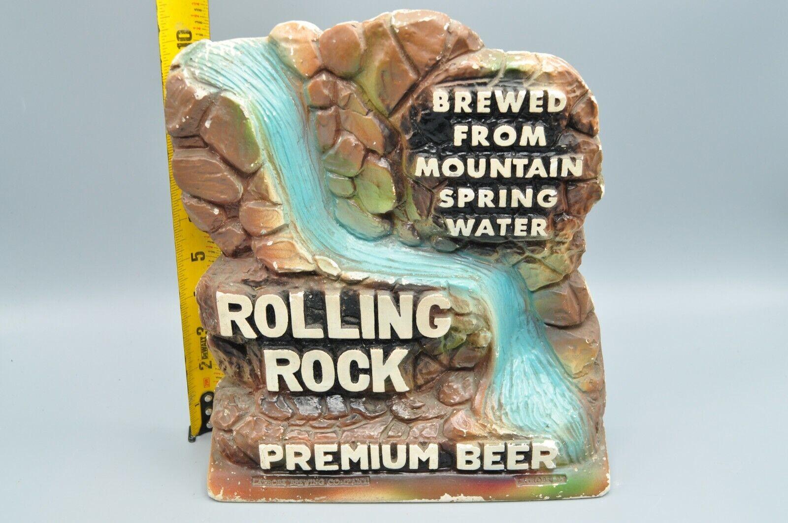 RARE ROLLING ROCK BEER VINTAGE WATERFALL CHALK ADVERTISING SIGN