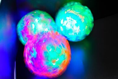LED Jumping Fusion Ball Dancing Vibrating Flashing Blinking Toy Glow Light Up