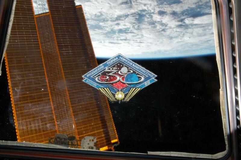 NASA Space Station Exp 38 Patch flown to ISS on board SpaceX Dragon