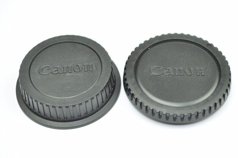 Body+Lens Rear Cap For Canon EOS Rebel XTi XT XS XSi T1i T2i T3i 50D 60D 5D 7D