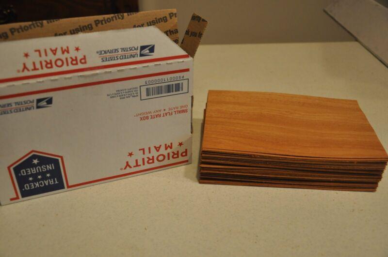 """SPECIAL!!!!!  Wood Veneer, 50 Plus, 5"""" x 8"""" sheets  IC33"""