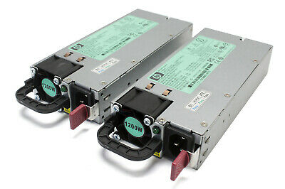 Lot of 2 - HP 1200W Server Power Supply 490594-001 438203-001 HSTNS-PL11