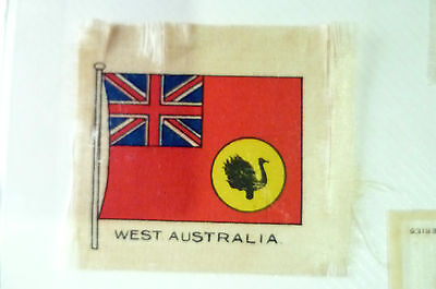 B.D.V. Cigarettes Silk FLAG- WEST AUSTRALIA SILK FLAG (apx. 6x5 cm)
