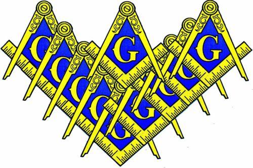"10 PCS Masonic Logo Embroidered PATCH Iron-on Square & Compass Emblem Badge 3"""