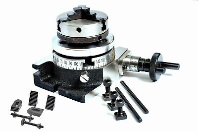 3 Inch Rotary Table 4 Slots With 65mm Lathe Chuck M6 Clamping Kit