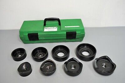 Greenlee 7304 Knockout Punch Set For Hydraulic Drivers 2-12 Thru 4 Conduit