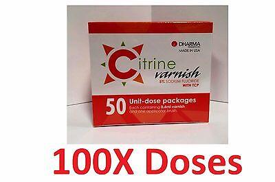 Citrine Fluoride Varnish 5 Sodium Fluoride With Tcp 100 Unit-dose Pack Dharma