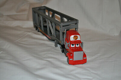 Disney Pixar CARS Lightning McQueen #95 Mack Superliner Car Carrier Hauler