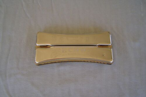"""HOHNER """"ECHO"""" CURVED TWO SIDED TREMELO HARMONICA """"C/F"""" UNUSUAL DOUBLE HARMONICA"""