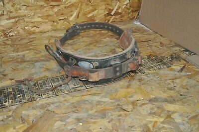 Klein S5282n24 Leather Lineman Safety Climbing Belt Size 40-48 Used Free Ship