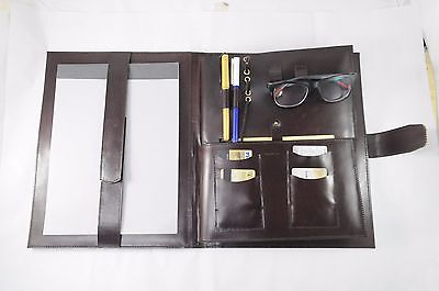 Writing Notepad Cover Brown Leather Portfolio Leather Binder Organizer