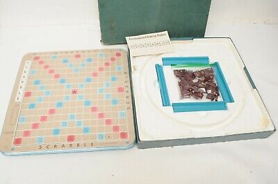 Vintage Selchow & Righter 1977 Scrabble Deluxe Edition Game Turntable in Box