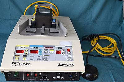 Conmed Sabre 2400 Electrosurgical Unit Bipolar Monopolar Footswitch Manual