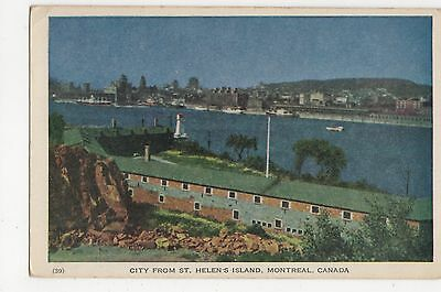 Canada, City from St. Helens Island, Montreal Postcard, A812