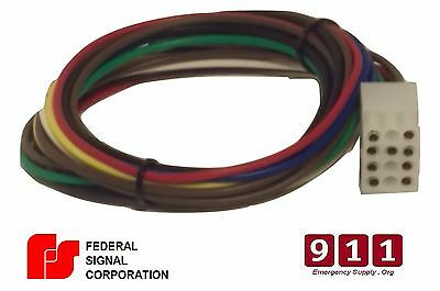 Federal Signal Replacement Siren Power Harness Plug Cable 12 Pin 1 Pa300 Ss2000