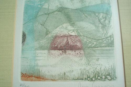 "RENE CARCAN Original Etching/Aquatint ""La Meuse"" - Signed & Numbered - Framed"