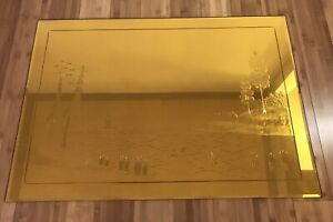 Gold Etched Wall Mirror