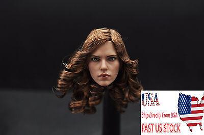 Zctoys 1 6 Scarlett Johansson Female Head Sculpt Brown Hair Head Toy Us Stock