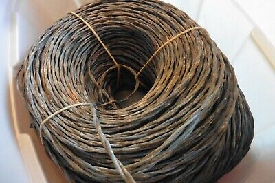 Strand Bell Wire (Vintage Western Electric Cloth Wire Bell System stranded twisted 16/2 50 feet )