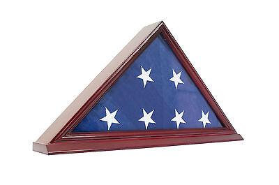 Saf-T-Gard US Flag Wood Base Acrylic Display Case - AW29 (Us Flag Display Case)