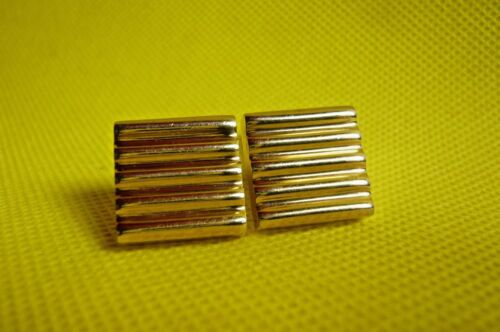 """VINTAGE SWANK  CUFF LINKS-3/4""""-Barred-Gold Tone"""
