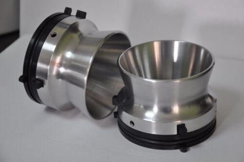 New pair of high quality nab hub adapters polished aluminium Revox etc