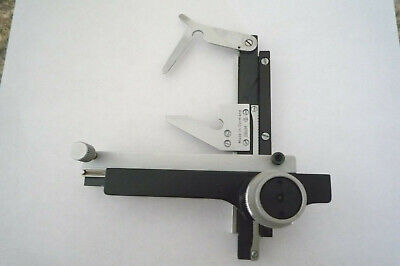Leitz Mechanical Xy-stage Dbgm Germany For Microscope Slide-clip Holder
