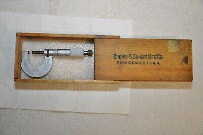 Starrett No. 230 Outside Od Micrometer 0-1 Range .0001 Gradsclean