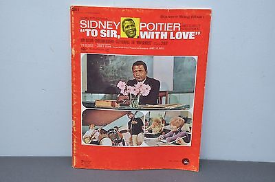 Sidney Poitier - To Sir with Love Souvenir Song Album Paperback – 1967