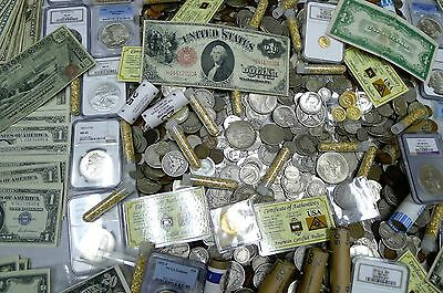 Gigantic 110  Coin Estate Lot  Ngc Pcgs Gold Silver Currency Rolls Antique More