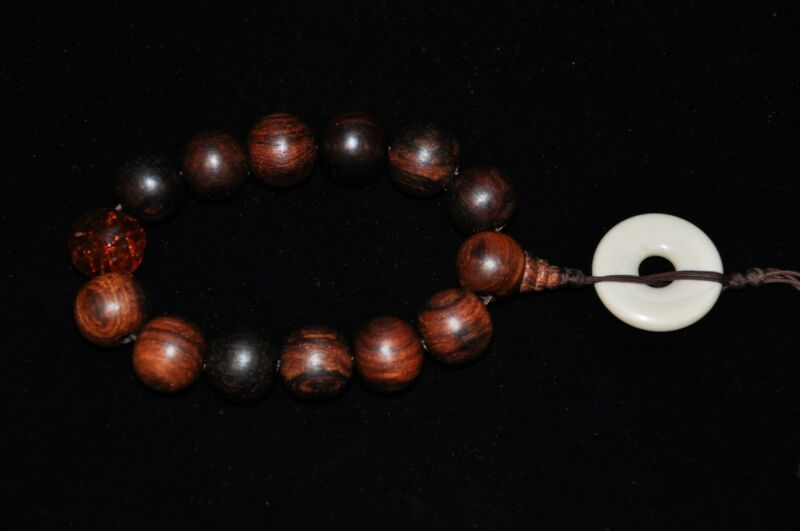 Chinese Huanghuali Wood Beads Bracelet