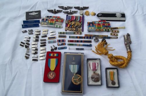 Very Large Collection of Korean War and Vietnam War Fighter Pilots Medals