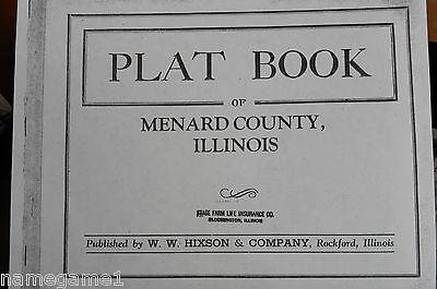 GENEALOGY ILLINOIS MENARD COUNTY PLAT MAP ca1930S
