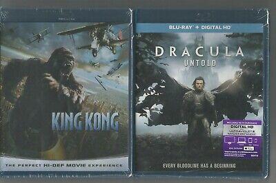 KING KONG (2005) and DRACULA UNTOLD (2014) - BLU-RAY -  BRAND NEW - 1 PRICE!!