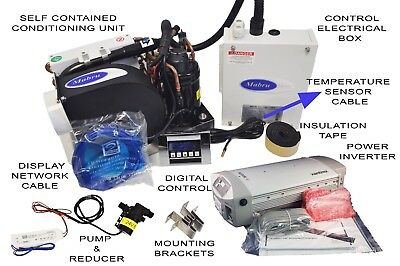 Marine Air Conditioner 4.2K BTU AC/DC (W/Inverter) pump and Digital Control.
