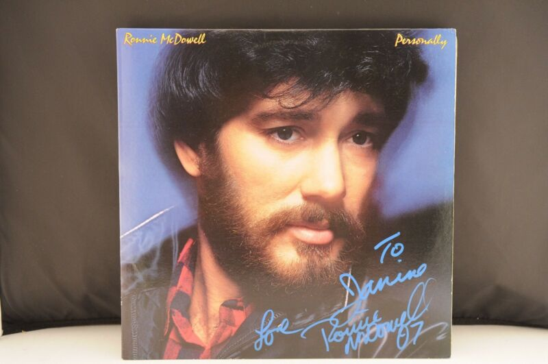 Ronnie Mcdowell Personally Autographed Signed LP Album Record PSA Guaranteed