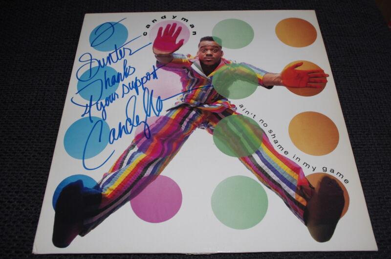 """CANDYMAN Rapper signed Autogramm auf """"AIN´T NO SHAME.."""" Vinyl Platte LP InPerson"""