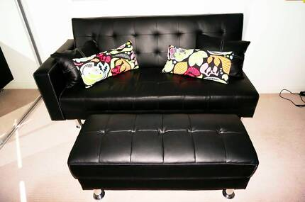 Leather Sofa bed + Bench (MOVING OVERSEAS!) Ryde Area Preview