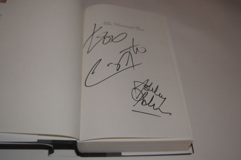 2X Signed Carlos Santana SIGNED Universal Tone Autographed book Hardcover NEW