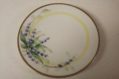 Vintage Hand Painted Porcelain Plate Uno Pavorille Bavaria