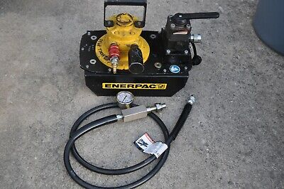 Enerpac Za4608mx Air Driven Hydraulic Pump 3way Valve Hose Gauge Service Ready