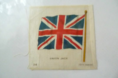 B.D.V. Cigarettes Silk FLAG- UNION JACK FLAG, 10th Series (7x6 cm)