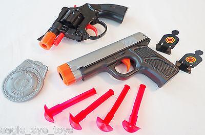 Colt .45 Dart Police Gear UZI Dart Pistol Pump-Action Toy Shotgun 3x Toy Guns