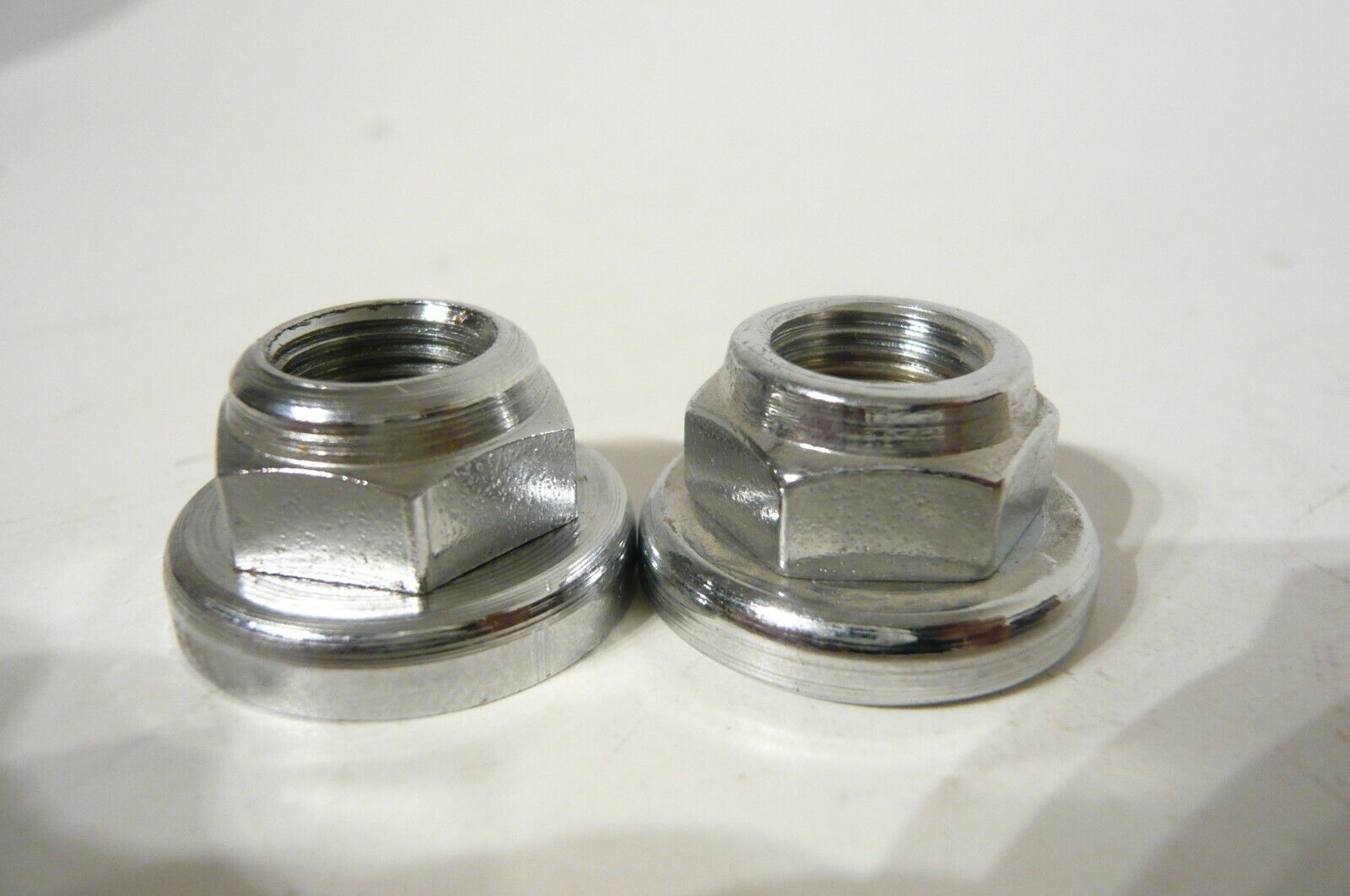 Campagnolo #668 Record  rear track hub chrome plated steel lock nut x 2 pieces
