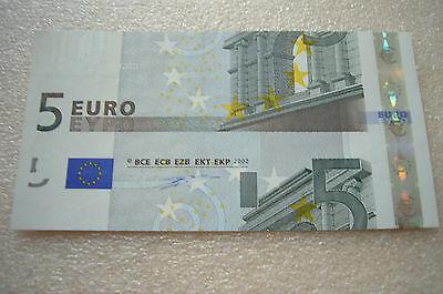 BRD 5 Euro 2002 Erste Serie Fehlschnitt